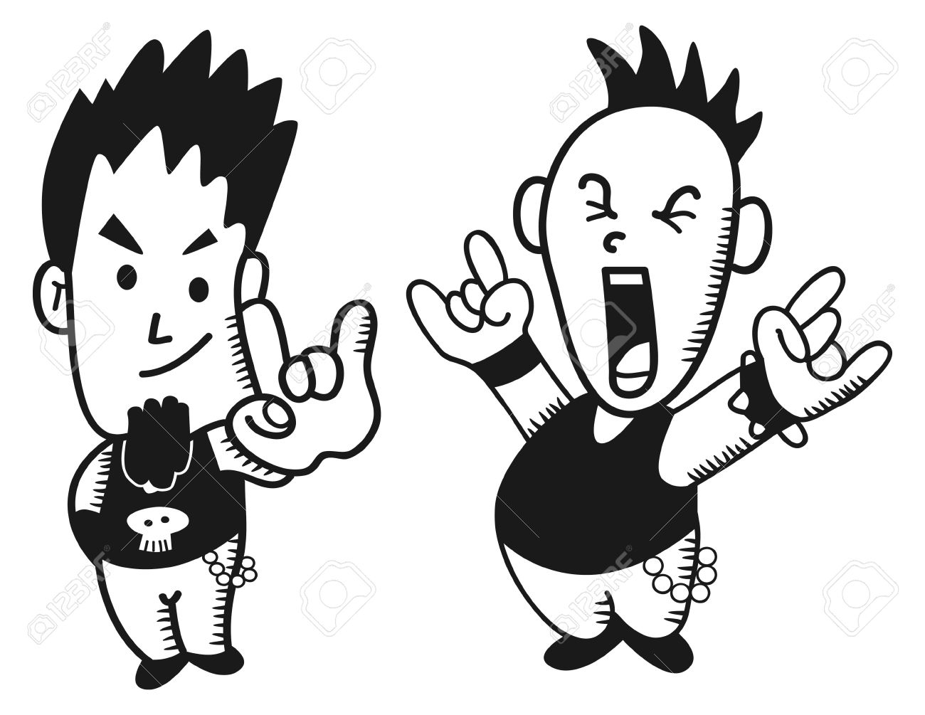 Little Punk Rocker Royalty Free Cliparts, Vectors, And Stock.