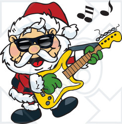 Rockin Santa Clipart.
