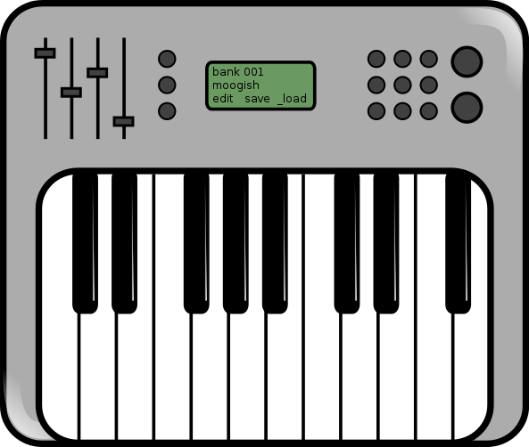Roland Keyboard Clipart.