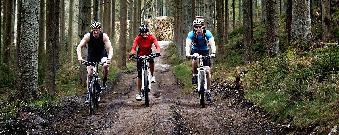 Mountainbike i Rold Skov.