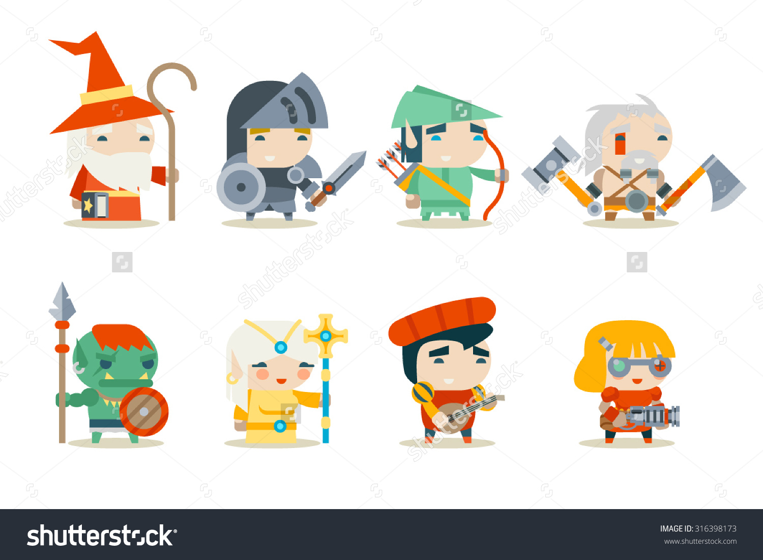 Character Design Icon : Role playing game clipart clipground