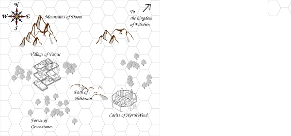 Role Playing Game Map clip art Free vector in Open office drawing.