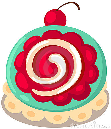 Strawberry Roll Cake Stock Illustrations.