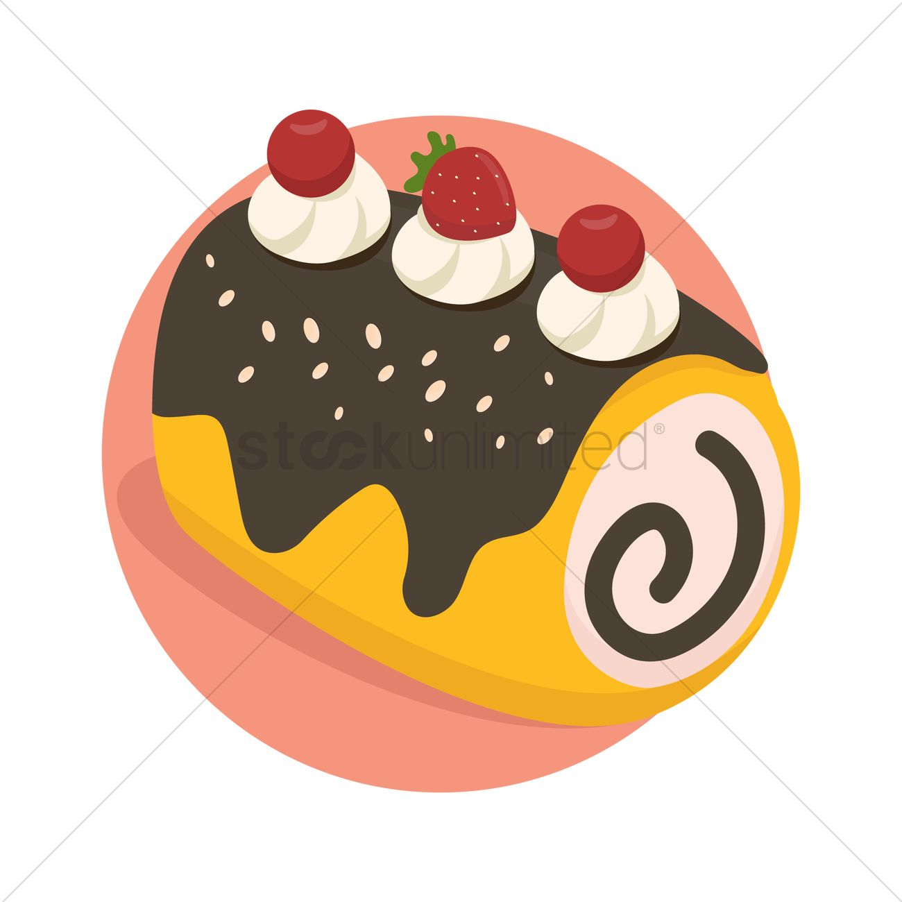 Free Roll Cake Stock Vectors.