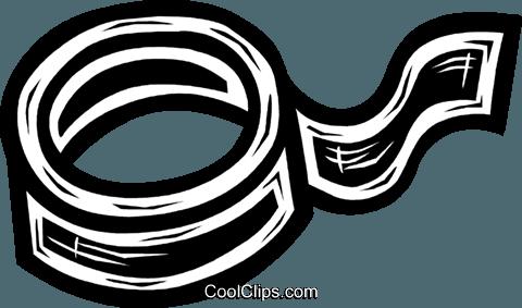 roll of tape Royalty Free Vector Clip Art illustration.