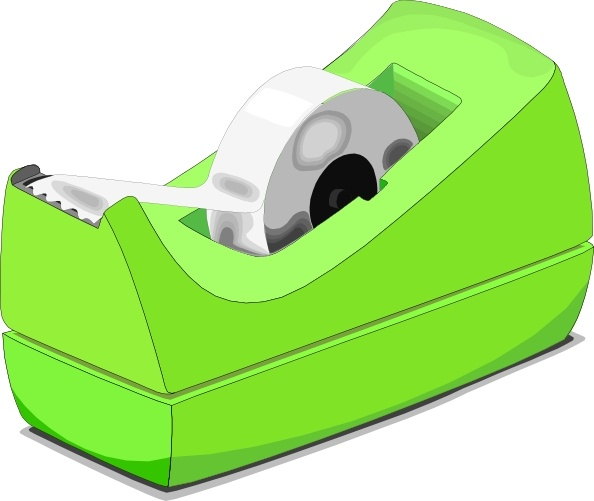Scotch Tape Roll clip art Free vector in Open office drawing.