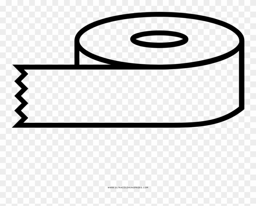 Tape Roll Coloring Page.