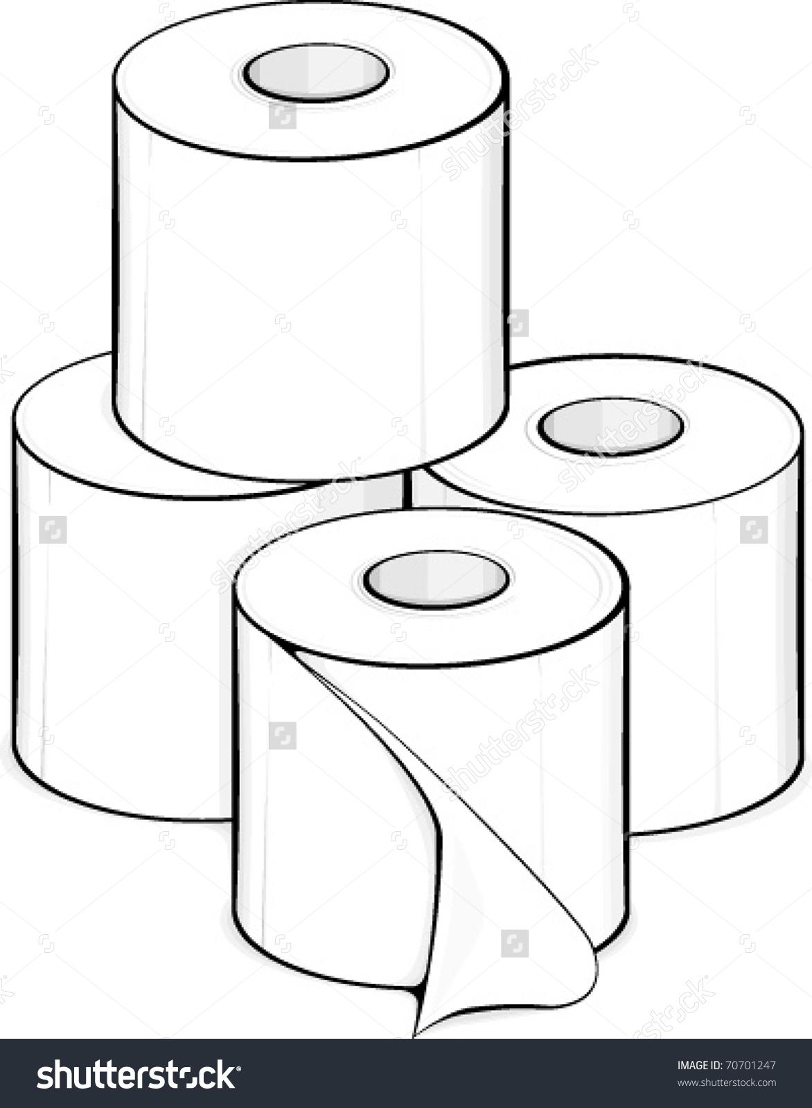 Toilet Paper Rolls Stock Vector 70701247.