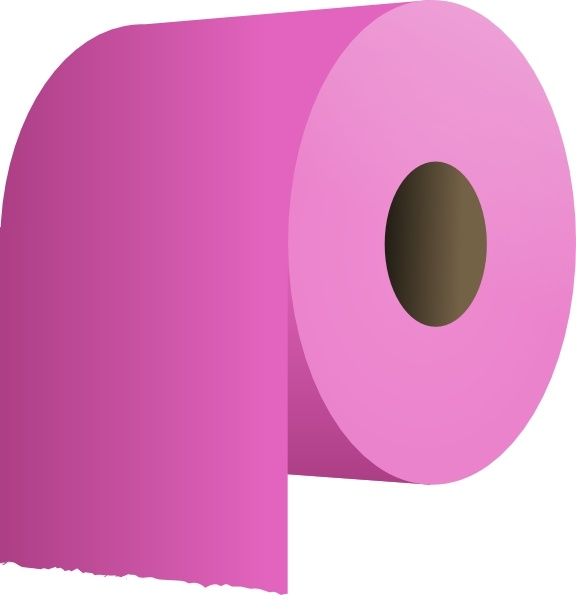 Toilet Paper Roll clip art Free vector in Open office drawing svg.