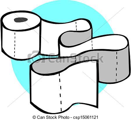 Vector Illustration of toilet paper rolls.