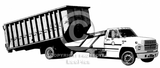 Roll off truck clipart.