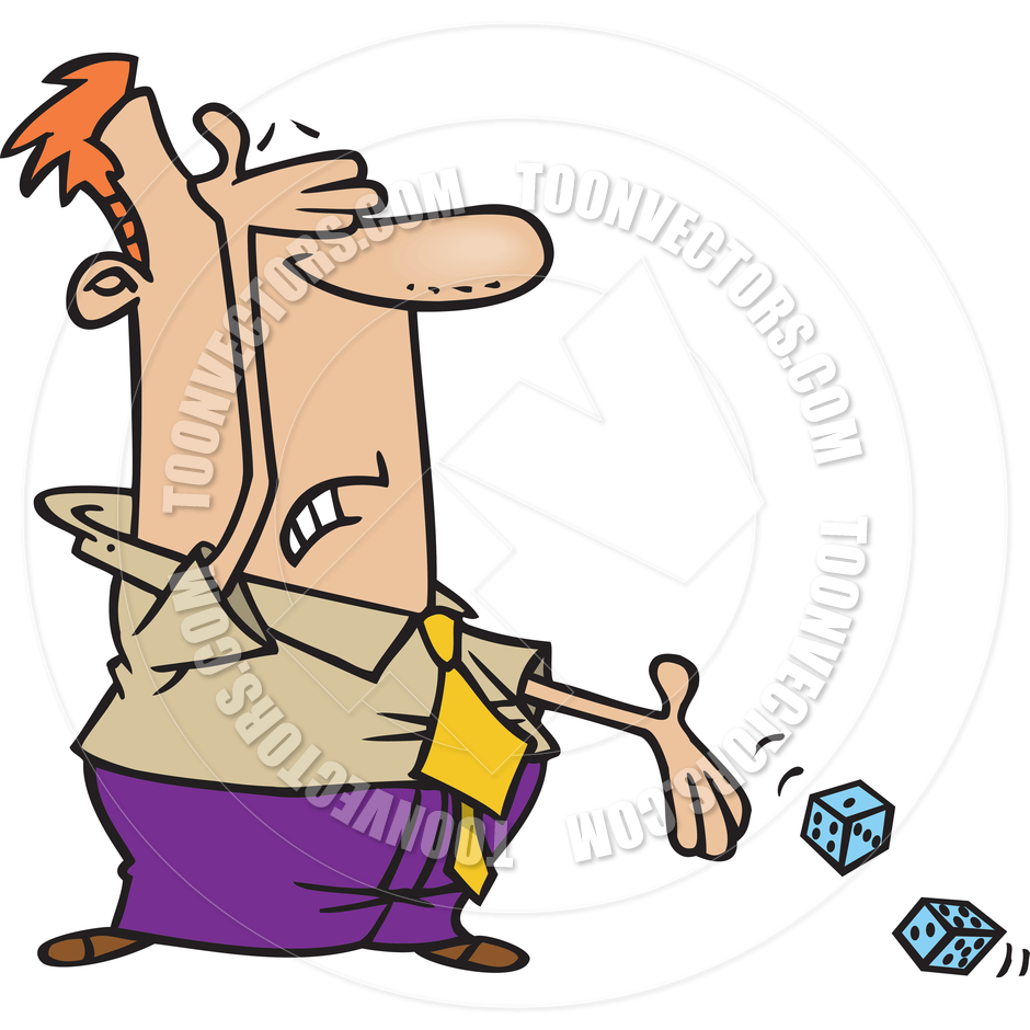 Cartoon Roll of the Dice by Ron Leishman.