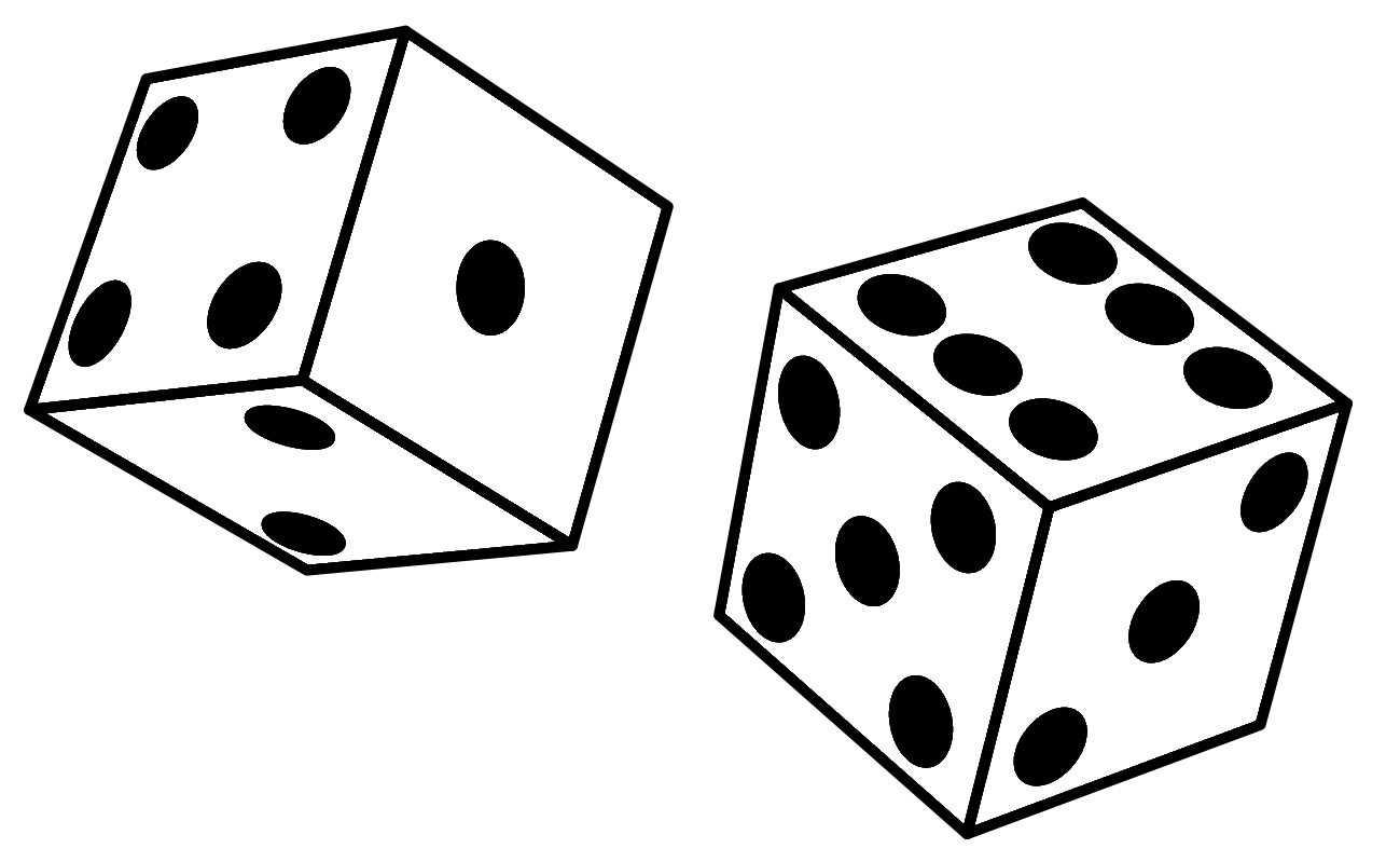 Dice clipart no background.