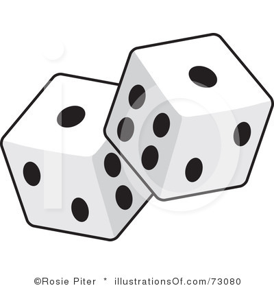Rolling Dice Clipart.