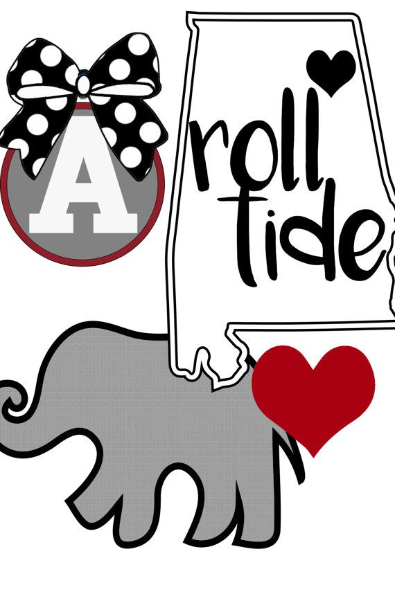 Roll Tide SVG, Alabama Clipart, Bama SVG / Roll Tide / Yeti.