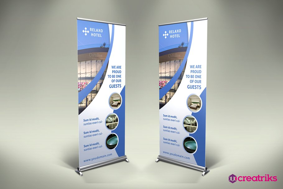 Hotel Roll Up Banner.
