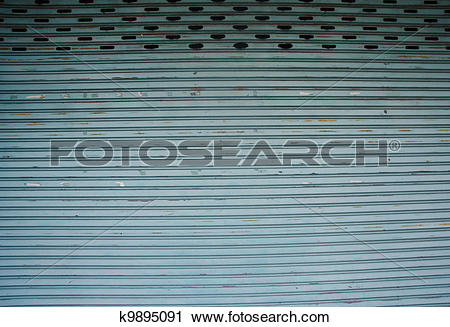 Stock Photography of stainless steel roll up door k9895091.