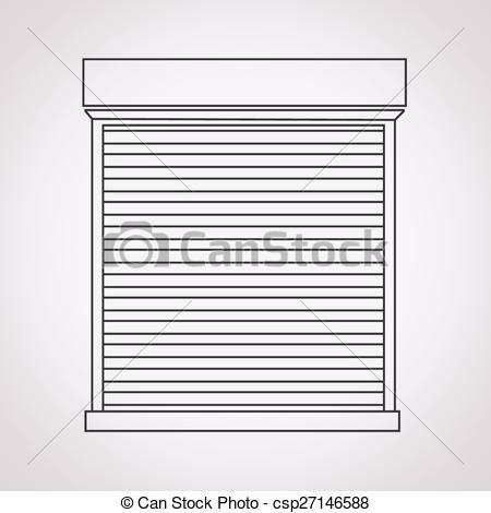 Vector of Roll up door icon csp27146588.