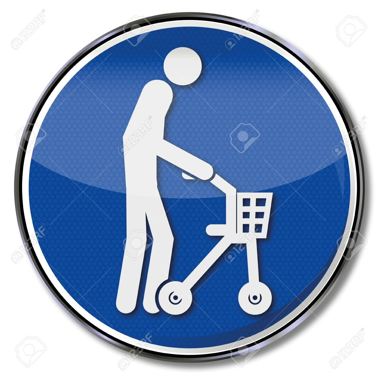 Sign Old Man With Rollator Royalty Free Cliparts, Vectors, And.