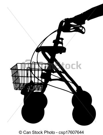 EPS Vector of Walking frame with hand csp17607644.