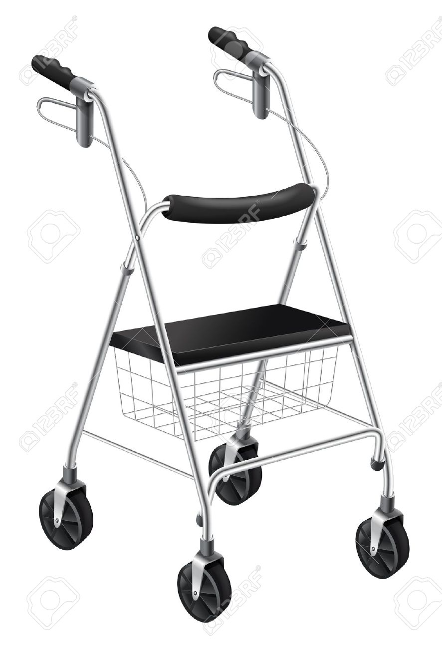 Illustration Showing The Rollator Walker Royalty Free Cliparts.