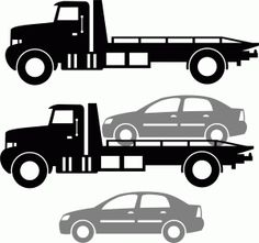 Tow clipart rollback wrecker.