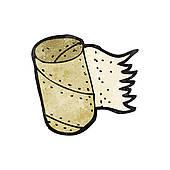 Clipart of loo roll holder cartoon k14822322.