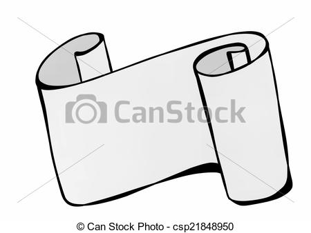 Rolled paper clipart.