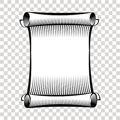 Paper Scroll Illustration of Rolled Paper premium clipart.