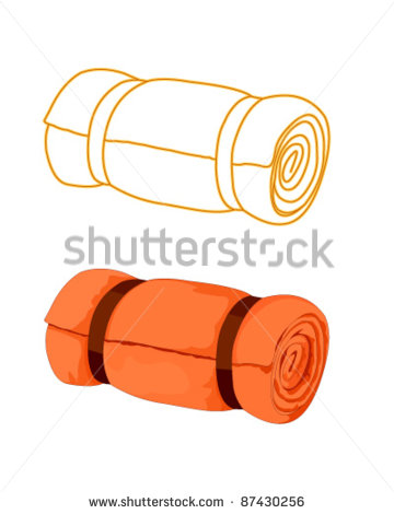 Rolled Up Sleeping Bag Clipart.