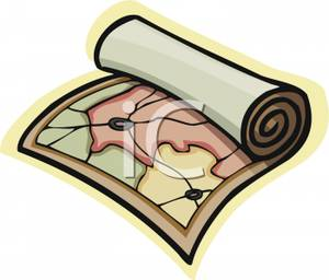 Art Image: A Rolled Up Map.