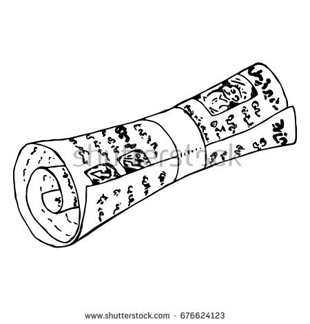 Rolled Up Newspaper Clipart.
