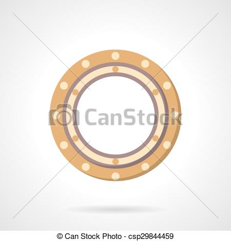 Clipart Vector of Roller bearing vector icon flat style.