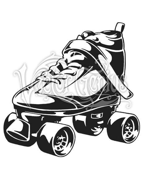 Sports Roller Skate Rink Clip Art.