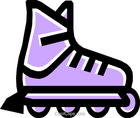 roller blades Royalty Free Vector Clip Art illustration.