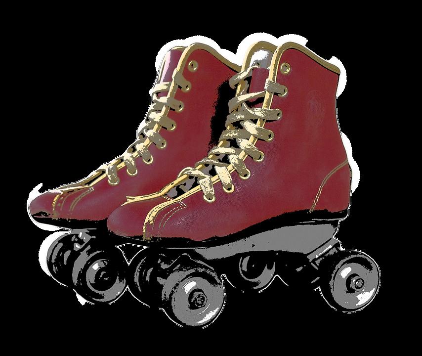 Roller Skates PNG Image.