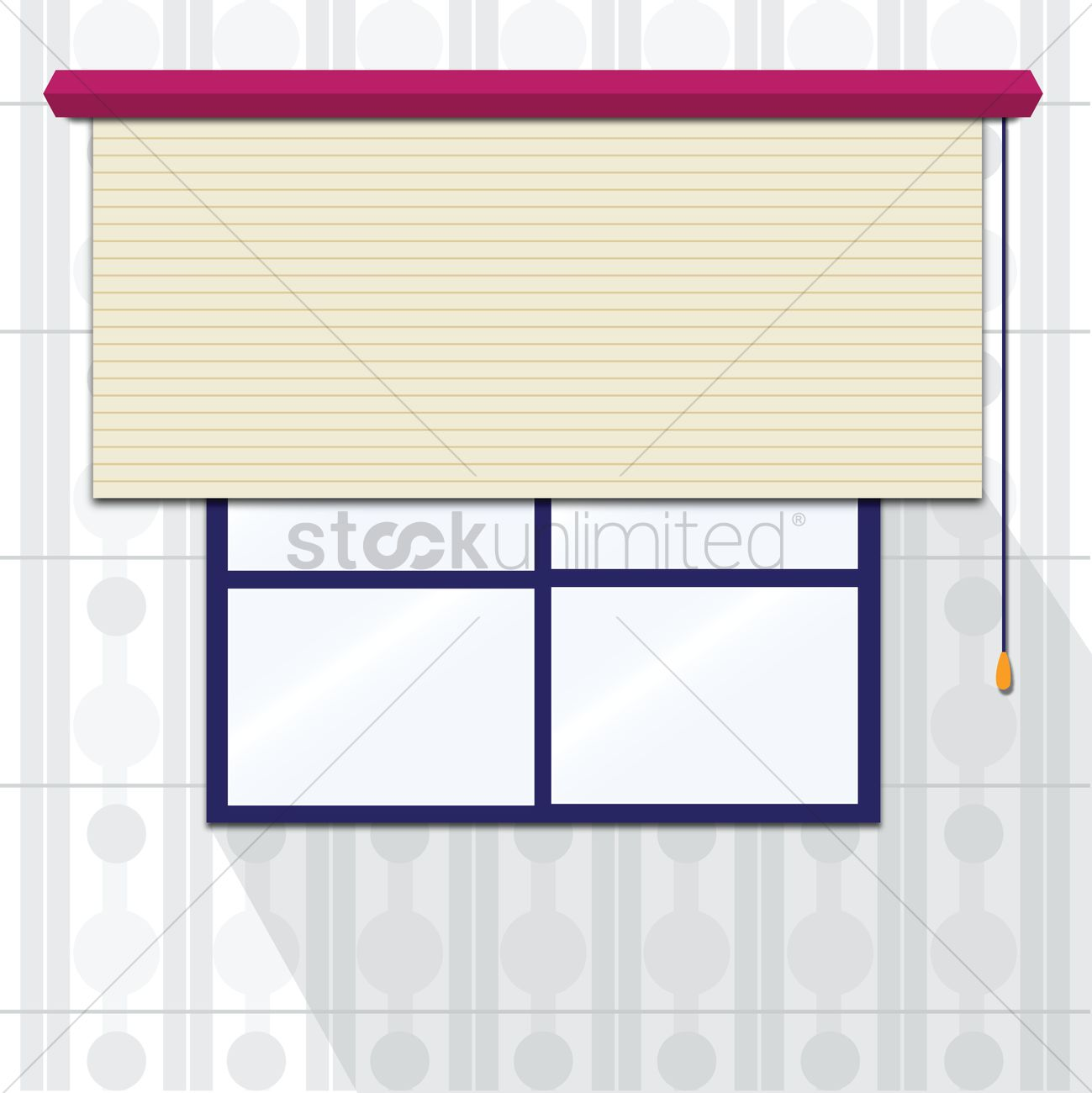 Window with roller blinds Vector Image.