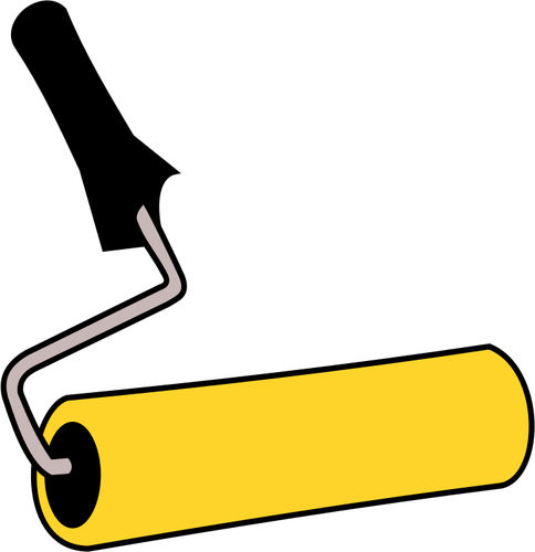 Paint roller vector graphic.