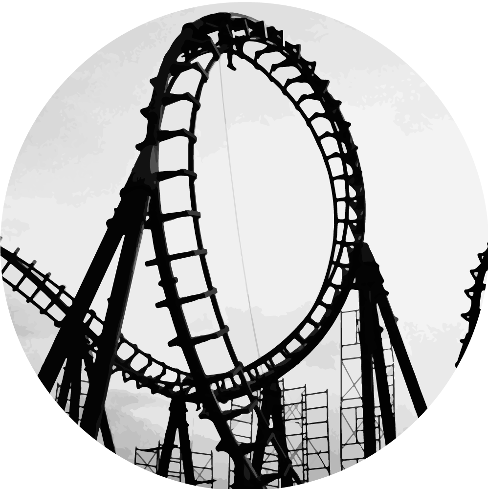 Roller coaster clipart black and white free here.