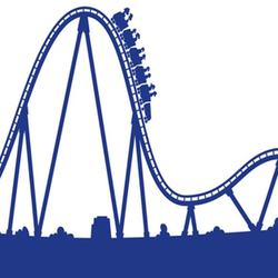 Roller Coaster Clipart Black And White.