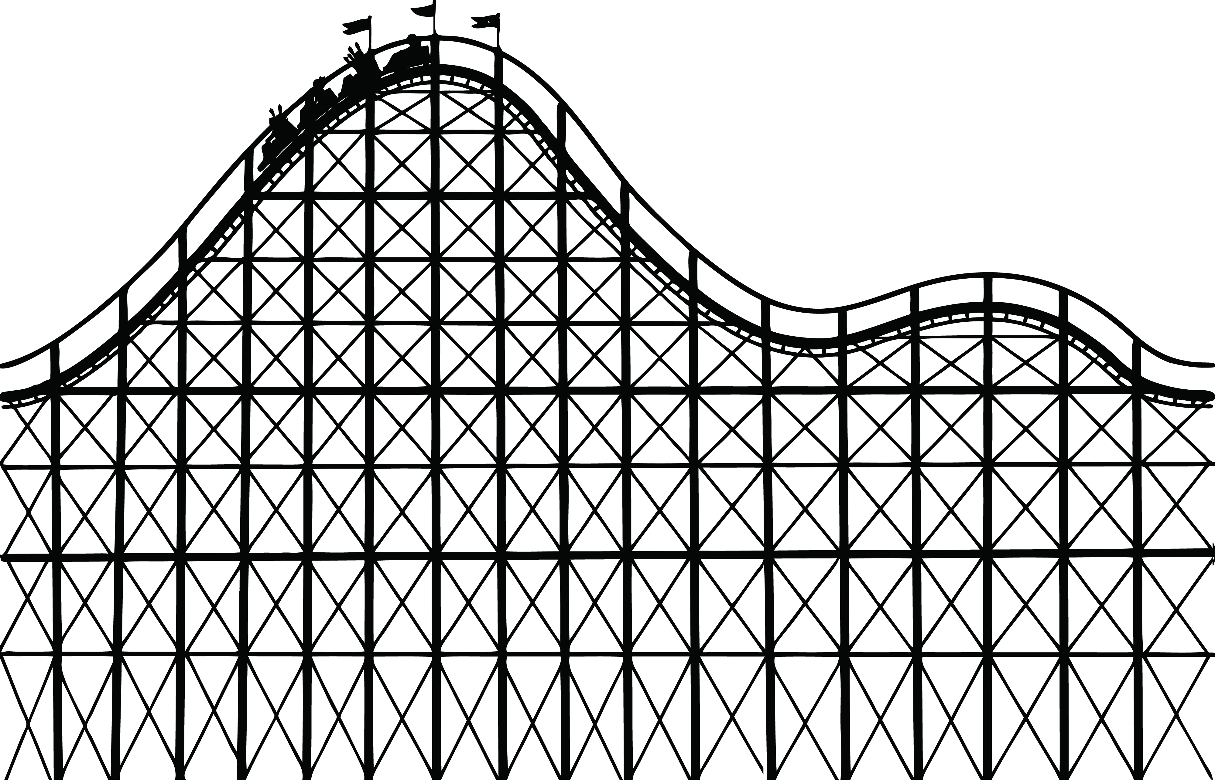 852 Roller Coaster free clipart.