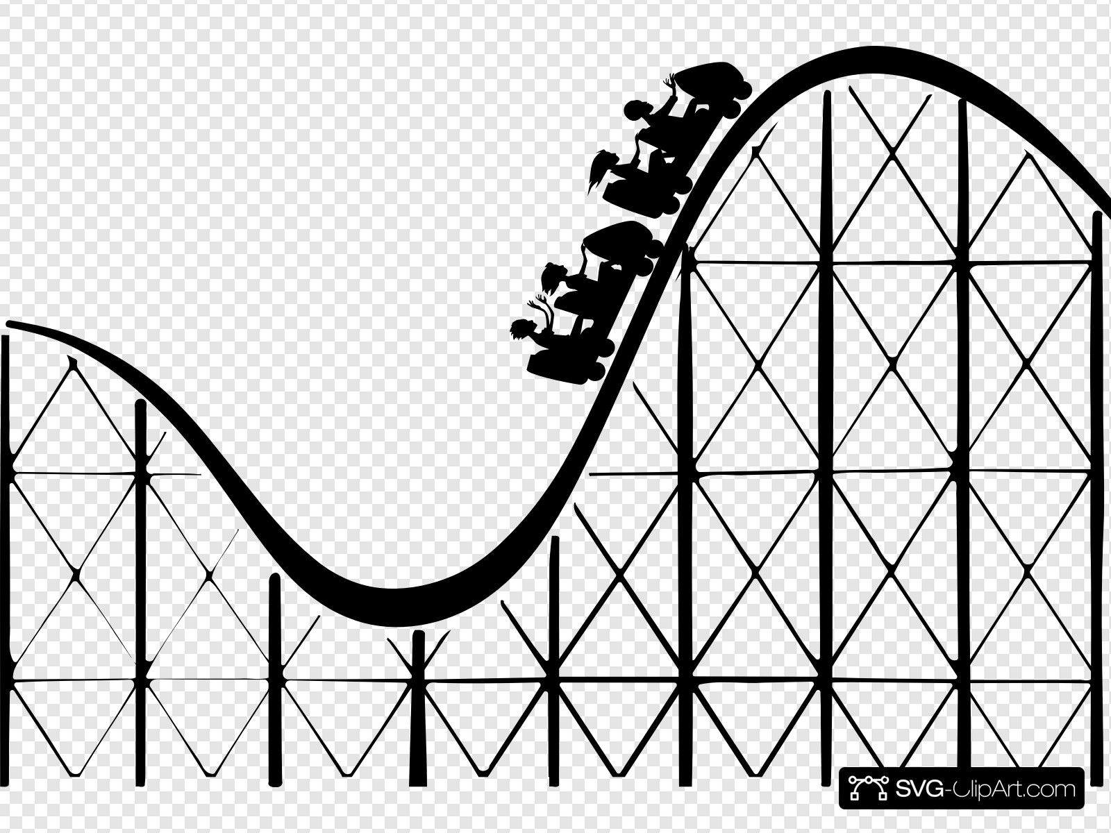 Roller Coaster Clip art, Icon and SVG.