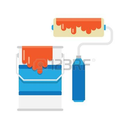 135 Roller For Painting Stock Vector Illustration And Royalty Free.