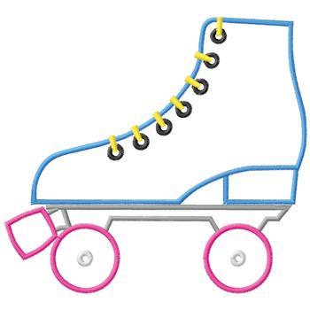 Roller Skate Outline Clipart.