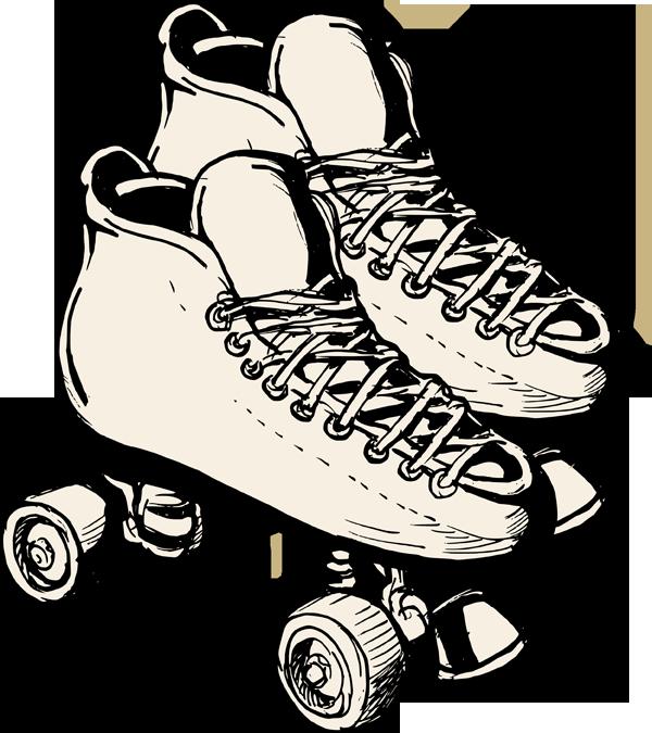 Roller derby skate clip art.