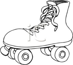Black and White Roller Skate.