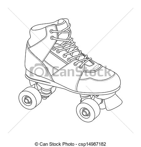 Roller Skate Outline Clipart 20 Free Cliparts Download