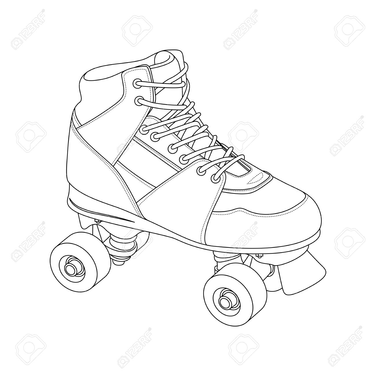 Roller Skate Outline Clipart Clipground