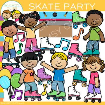 Skate Party Clip Art.