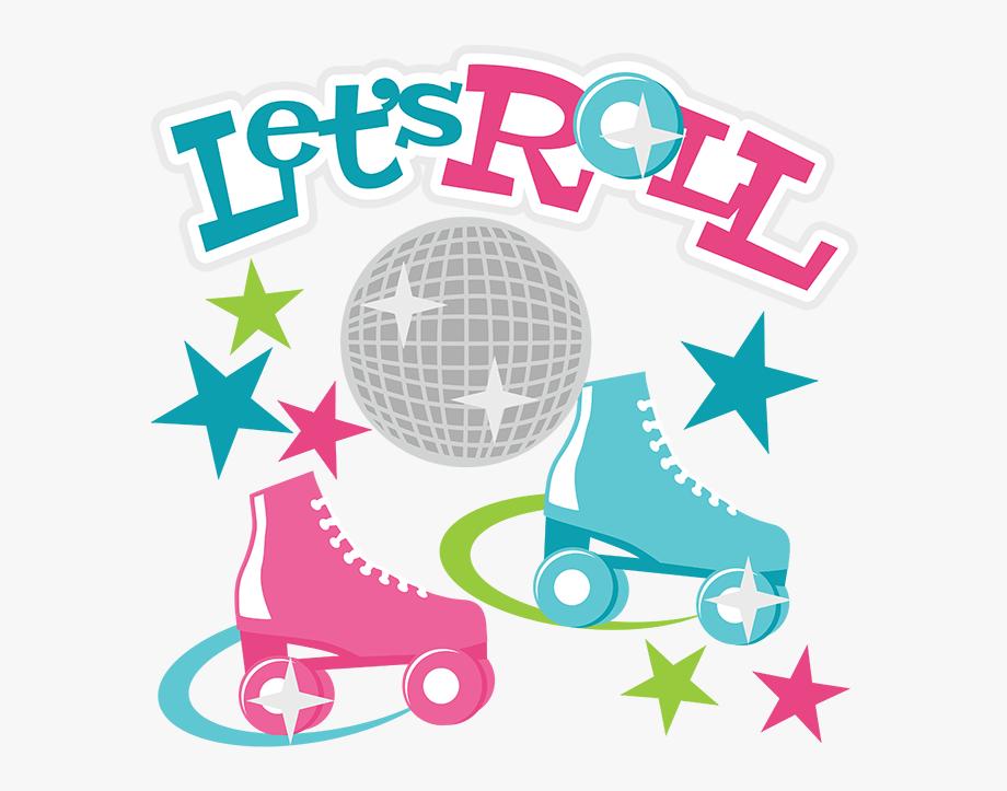 Roller Skating Clipart.